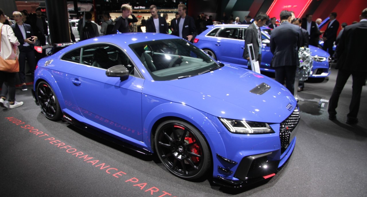 Audi TT RS With Audi Sport Performance Parts At The Frankfurt - Audi performance parts