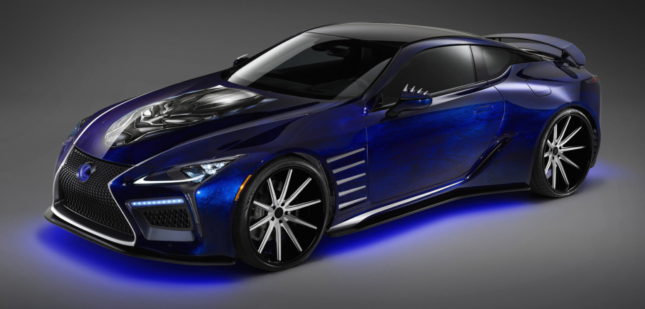 Lexus LCs for SEMA inspired by Blue Morpho butterfly, Marvel's Black Panther
