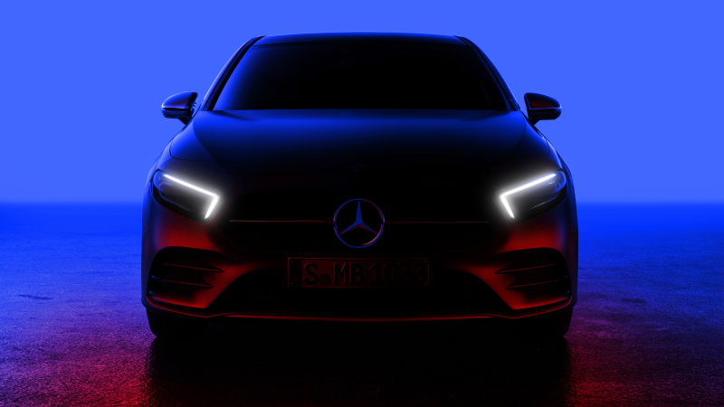Mercedes-Benz A-Class teased, with reveal on Friday