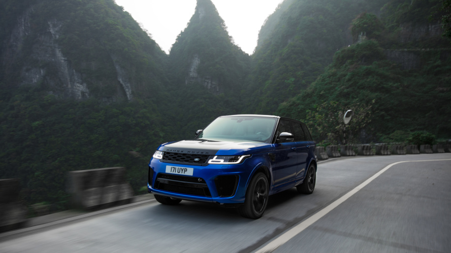 Watch Range Rover Sport SVR record run up China's 99-turn Tianmen Road