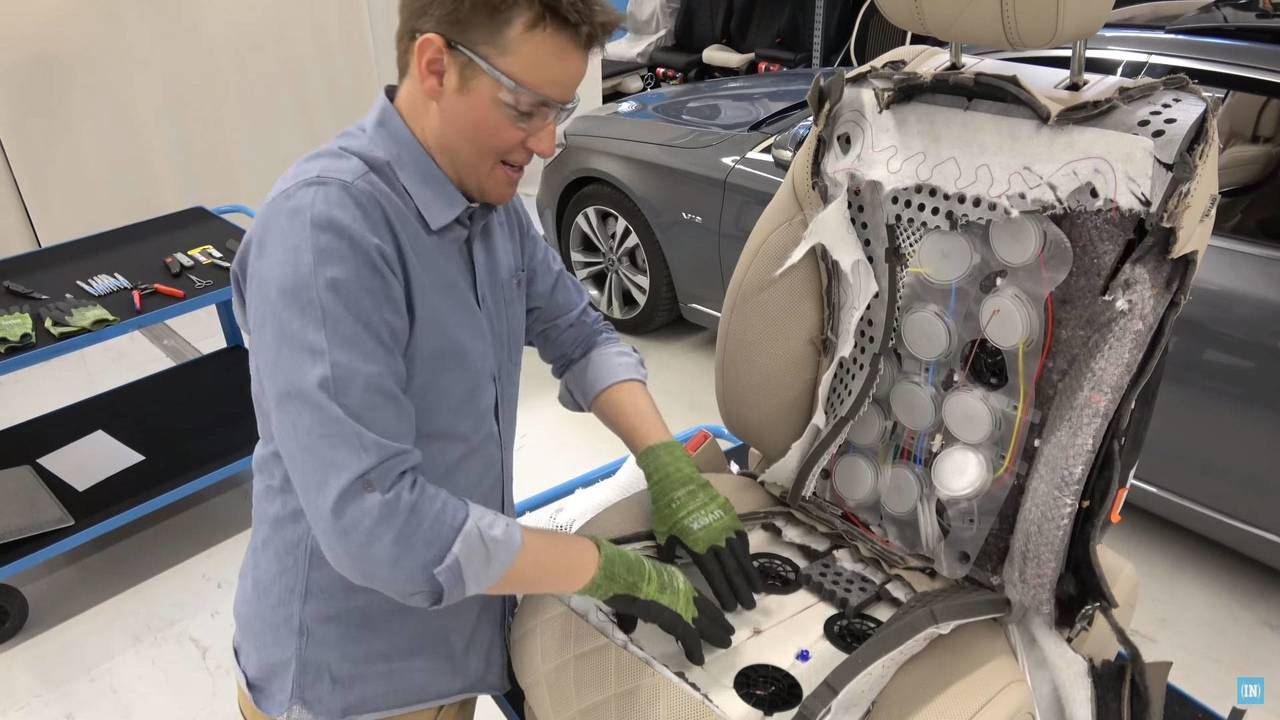 Dissecting A Mercedes S-Class Seat Is Hard To Watch