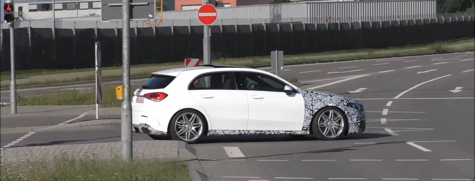 New Mercedes-Amg A45 Caught On The Move Riding Low