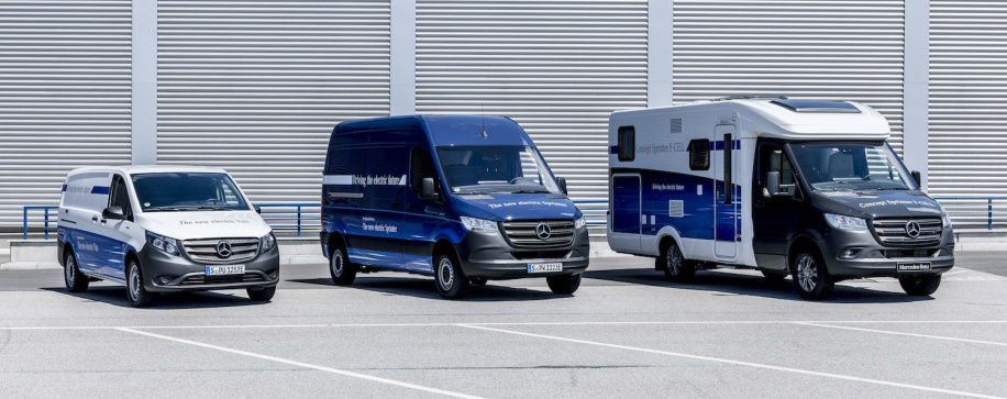 Mercedes-Benz unveils zero-emissions electric vans, fuel-cell concept