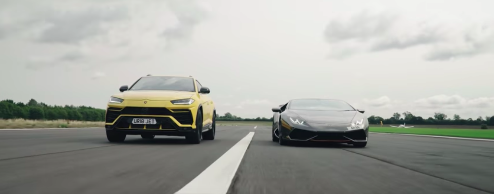 Lamborghini Urus Duels Huracan In A Series of Drag Races