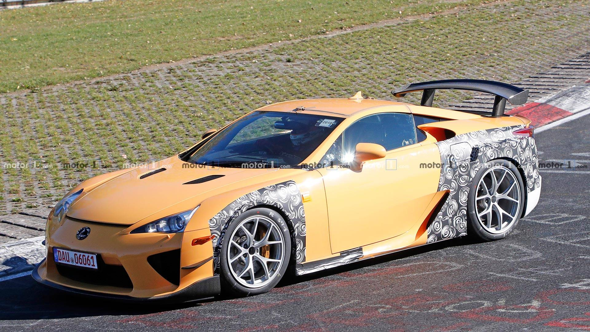 Mysterious Lexus LFA Widebody Test Mule Spied Lapping The 'Ring