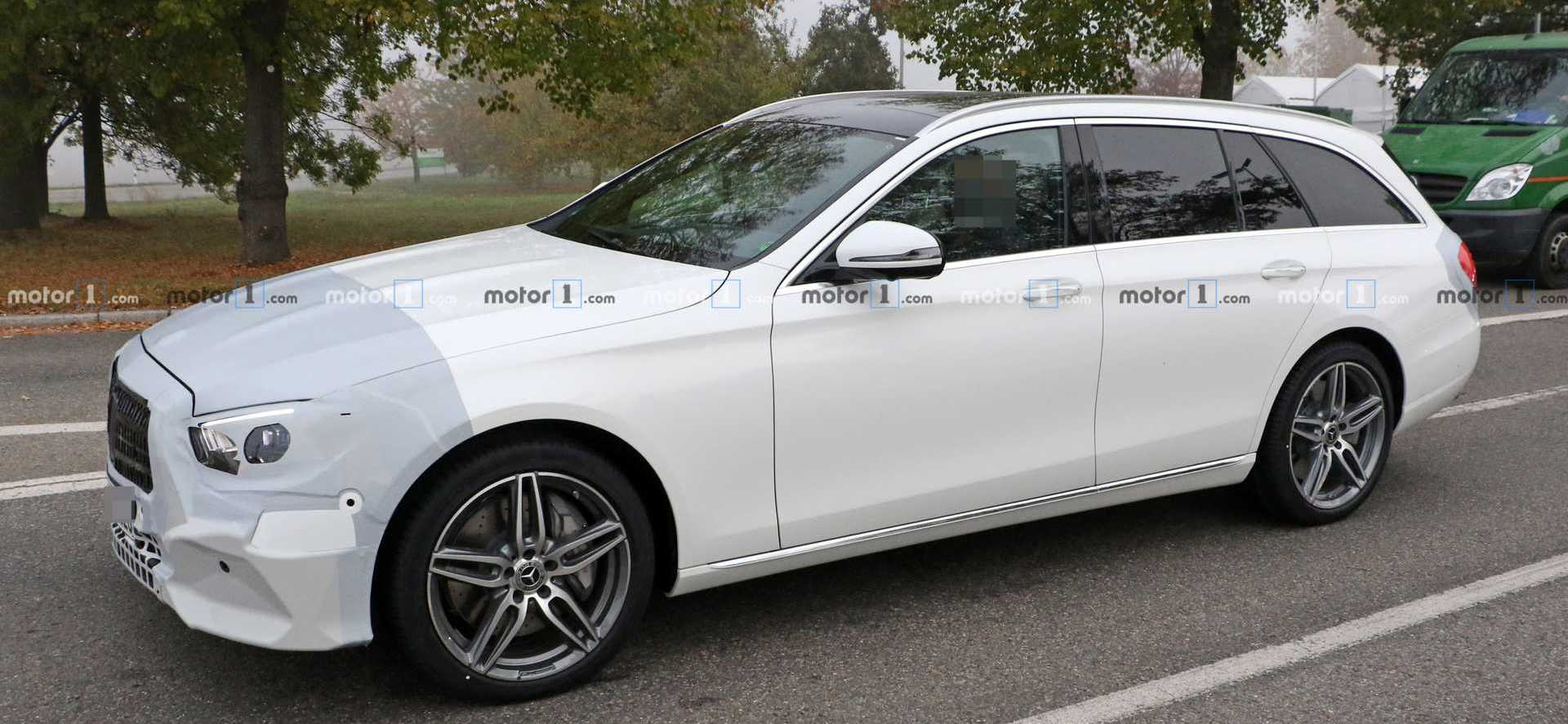2020 Mercedes E-Class Wagon Spied Dressed In White
