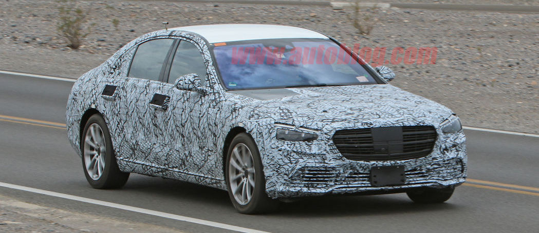 Mercedes-Benz S-Class front fascia mostly revealed in spy shots