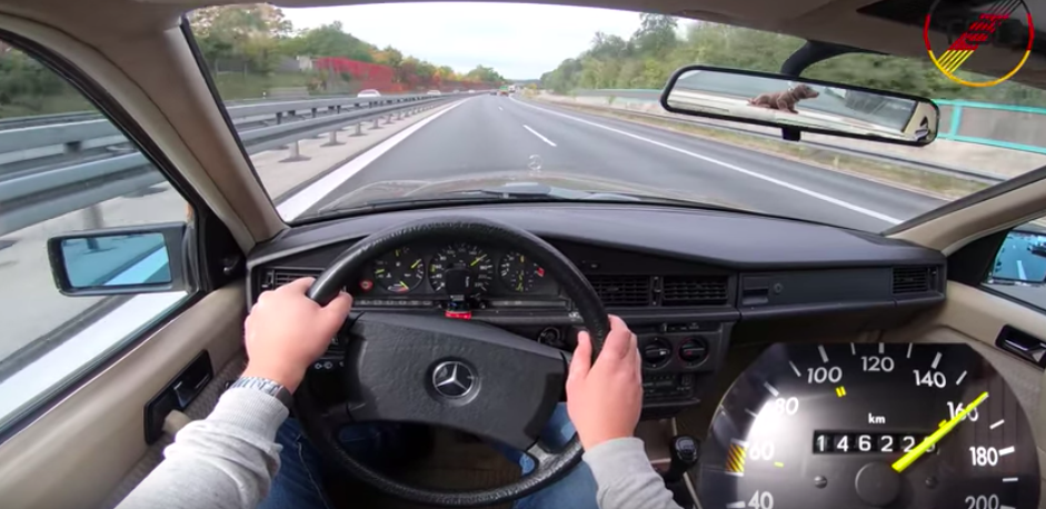 Watch This Classic 1989 Mercedes 190 Go Flat Out On The Autobahn