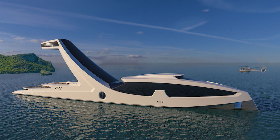 Shaddai Megayacht Concept Is Literally a Skyscraper on Water